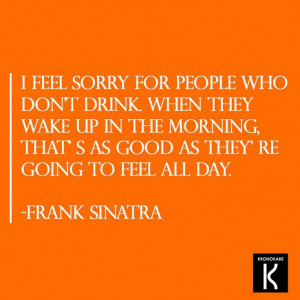 Don't ever Regret anything Quotes, Frank Sinatra, Funny, Drinking ...