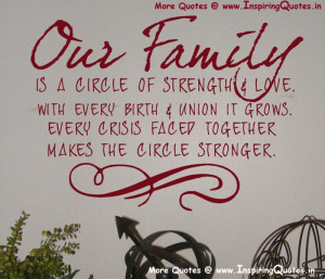 Love Family Sayings, Quotes, Inspirational Sayings about Family