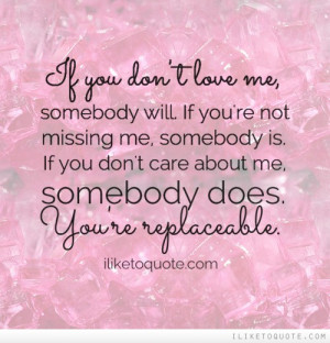 If You Don't Love Me Facebook Quote