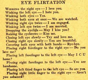 Eye Flirtation