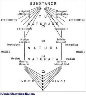 "Diagram Illustrating Spinoza's Metaphysical System. ""I cannot ..."