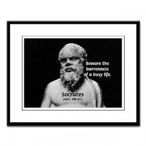 Socrates: Wisdom from Leisure : Famous Art Science Quotes Poster T