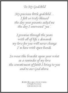 To My Godchild, Godchild Gift More