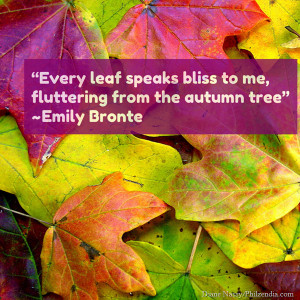 "... to me, fluttering from the autumn tree"" Emily Bronte quotes2 (1"