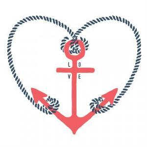 anchor, cute, love