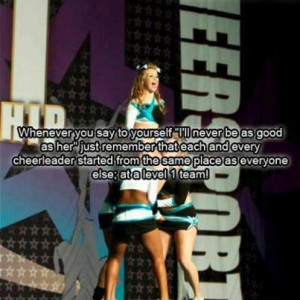 cheerleading quotes caption a good cheerleader is not measured by