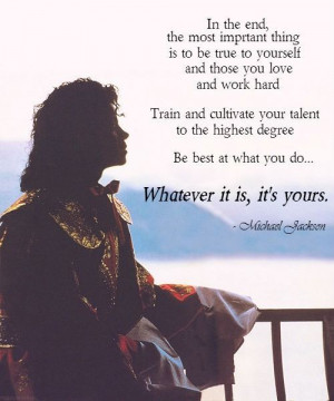 Wise words from Michael.