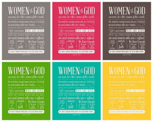 Women of God - Subway Art - Instant Download