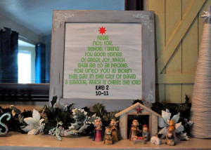 Christmas decoration idea! Using Bible quotes in lots of symbols ...