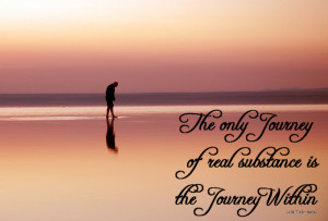 The only journey of real substance is the journey within