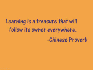 Quote of the Week: Chinese Proverb