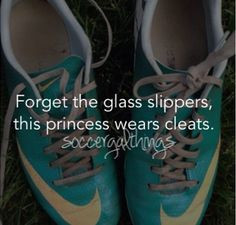 Forget the glass slippers this princess wears cleats!