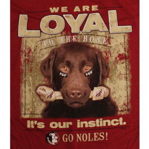 florida state seminoles t shirts loyal to the bone it s our instinct