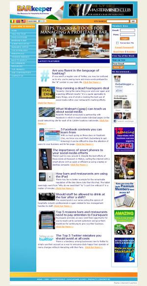 Project: Barkeeper Hospitality Website