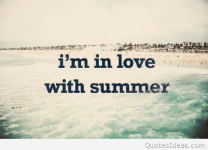 in love with summer quote