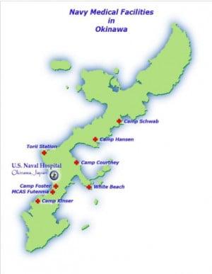 Okinawa Camp Foster Hospital Map