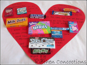 Here are some great sayings/sentences you can you that use candies: