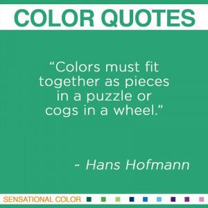 Color Quotes By Hans Hofmann
