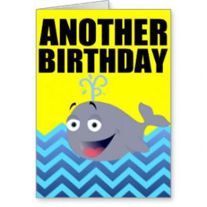 Funny Whale Birthday Cartoon Cards