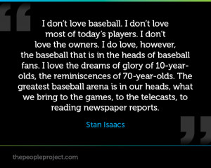 ... Do Love, However, The Baseball That Is In The Heads Of Baseball