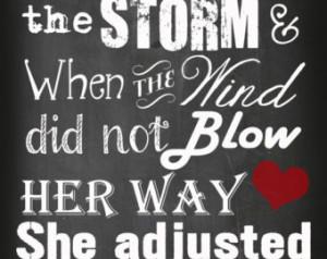 ... Subway Art, Storms of life, endure trials, motivational quote