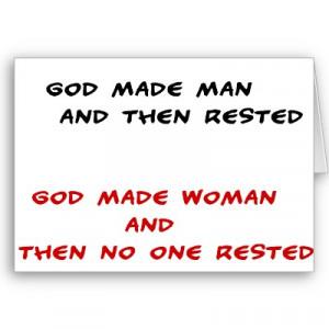 After God made women