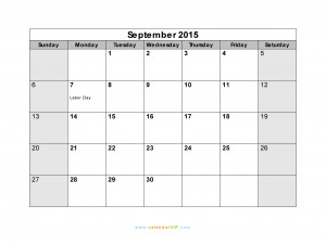 Excel Version September 2015 Calendar Image Of September 2015 Calendar