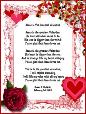 Jesus IsThe Greatest Valentine - Poem Poster