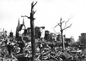 Margaret Bourke-White: Shopping centre of Cologne after bombardment ...
