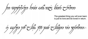 gorgeous Elvish quote about love ♥