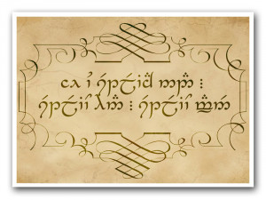 Lord The Rings Quote From Two Towers Sindarin Elvish Spoken
