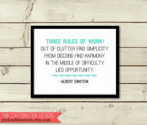 Inspirational+Quote+Print++Rules+of+Work+by+by+PinkCaffeination,+$22 ...