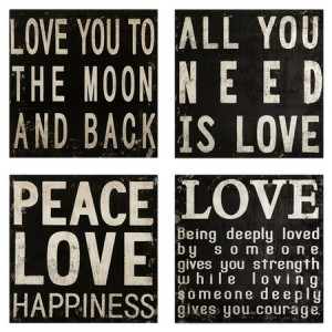 Inspirational Wall Quote Décor Set.