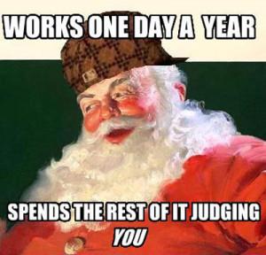 funny Santa Claus elfs comic