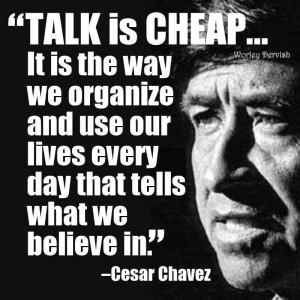 Cesar chavez...