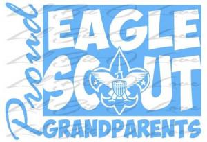 Proud Eagle Scout Grandparents Vinyl Decal sticker Boy Scouts BSA ...