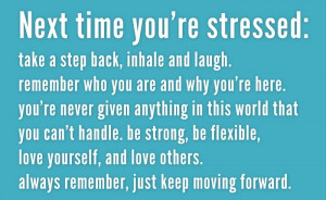 Next Time You're Stressed, Take a Step Back, Inhale and Laugh ...