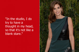 ... to, you know, think and stuff. Just ask Cindy Crawford about that