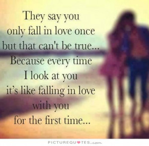 First Time to Say I Love You Quotes