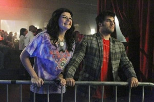 Casey Wilson and Adam Pally in