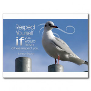 Inspirational Quote --Self-Respect Post Cards