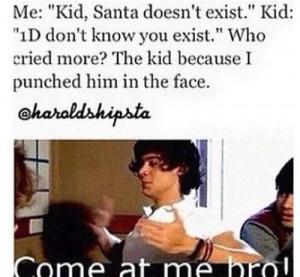 1d, funny, harry, santa