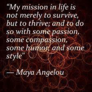 Posting inspirational quotes and novelist, is Maya Angelou Quotes ...