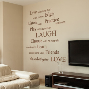 ... Inspirational Phrases & Sayings Wall Decals Stickers Vinyl Wall Quotes