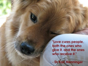 Love quote from Dr Karl Menninger