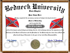 Party Favor option 2 http://www.diplomastore.com/images/redneck1.jpg