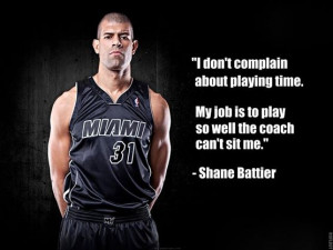complain about playing time my job is to play so well the coach can ...