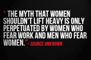 The Myth That Women Shouldn't Lift Heavy Is Only Perpetuated By ...