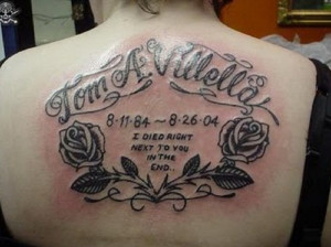 Tattoo Design: Amazing Memorial Tattoo Quotes On Back, quotes tattoos ...