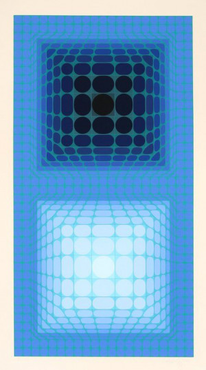 Victor Vasarely, Antares, Serigraph. 2/20, 12pm